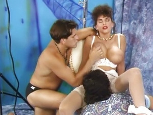 Sarah Young double penetrated for the boss