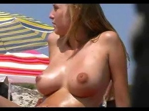 Compilation of topless chicks on the beach