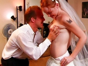 Young red-haired bride