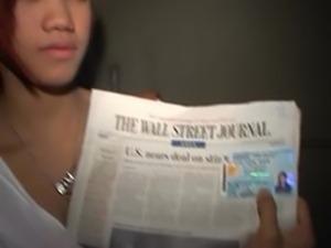 Slutty Thai teen Tia 18 licks cock