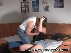 Amateur couple homemade hardcore action with cumshot
