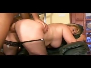 Chubby Blonde Sucks Dildo And Toys With Pussy
