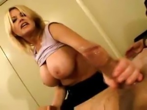 Big Tits Blonde Mature Does Tease And Denial