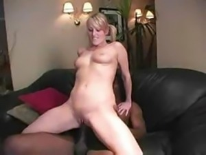Sharon Blonde Interracial Scene With Huge Black Cock Till Get Cum On Mouth
