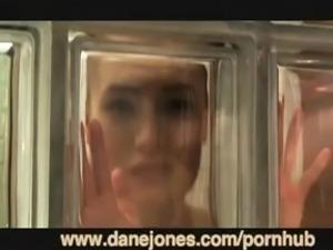 DaneJones Redhead orgasms with a vibe