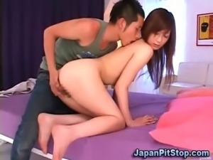 Asian teen couple playing free
