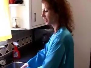 MILF Gets Fucked In Kitchen
