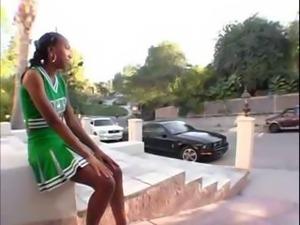 Hot Ebony Threesome Ends In Jizz