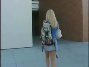 Blonde student fucked hard