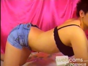 Jean Shorts Striptease & Pussy Closeup