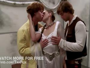 Princess Lea Threeway fucking in STAR WARS XXX a Porn P