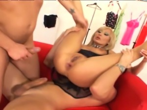 Tall skinny Hungarian blonde with natural 34Cs gets pounded in her ass and...