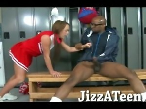 Sweet cheerleader pounded in her young ass with black dick