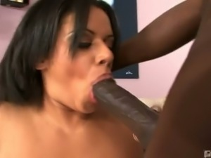 Alexis silver sucks and fucks black cock