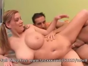 Sara Stone busty pigtailed chick banged
