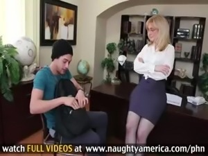 Older Busty Teacher Helps Student Pass As Long As He Fucks Her