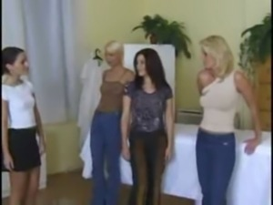5 lesbians with some dildos at  ... free
