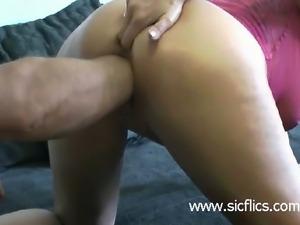 Shameless amateur slut is brutally fisted in her cavernous cunt by her huge...