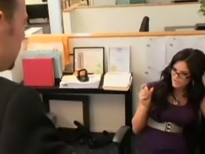 Sexy Secretary Mackenzee Pierce Gets Her Pussy Jammed!