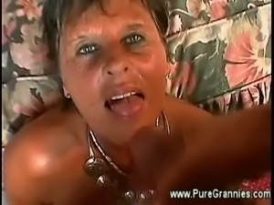 Granny takes young cock doggystyle free