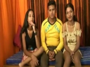 Hot threeway Indian  Awesome Fuck free