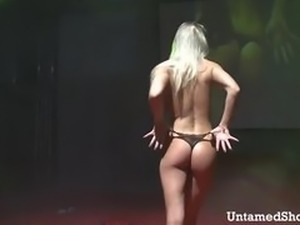 Sexy babe stripping and dancing
