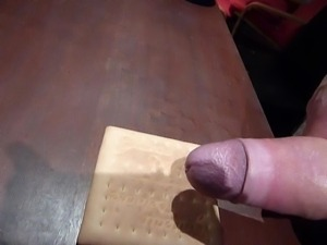 cum on food big load on cookie