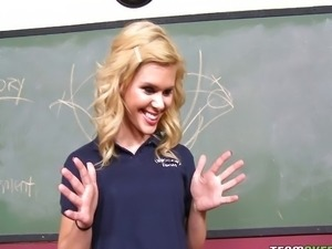 Blonde school girl teen Elizabeth Bentley