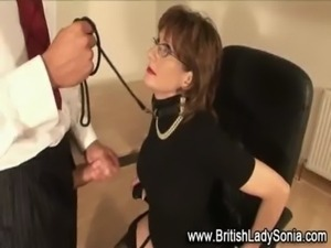 Lady Sonia on a tight leash free