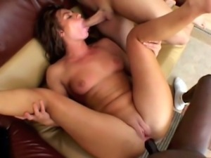 Israeli/Slovak slut with 39 inch ass does anal and DP with a Puerto Rican...