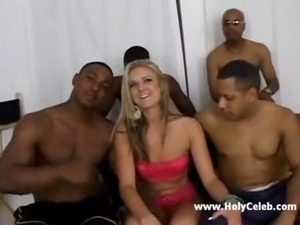 Blond slut on black dicks free