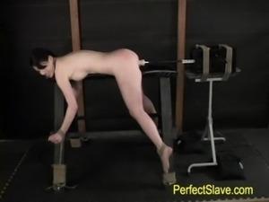 brunette tied, fucked by machin ... free