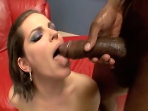 5 foot 8 inch anal queen with 39 inch ass does anal and DP with 2 bald black...