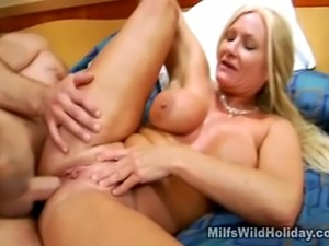 We have this hot busty milf babe named Roxy on this clip as she is banged...