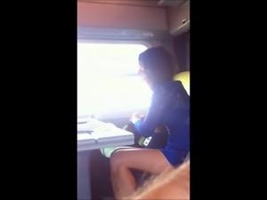 Train flashing voyeur