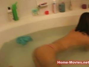 Kodye takes a bath