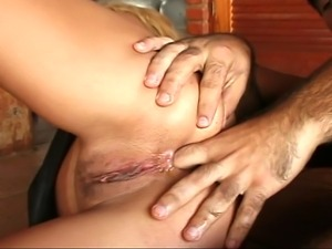 A horny girl badly wants to fuck a man and this lucky man doesn't  waste...