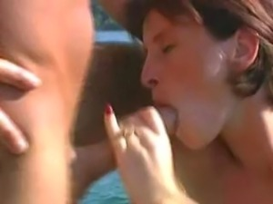 Liza, a lean brunette, did David and Frank on a boat in a harbor. It was also...