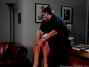 Hank Armstrong Plays With Skye Blue's Ass bdsm bondage slave femdom domination