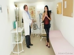 Latina Victoria Rose gyno exam  ... free