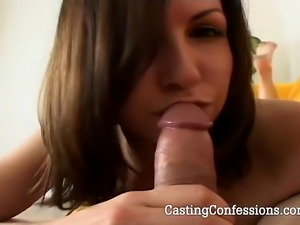 Witness a hot scene as Melodie blows a large cock for an actual porn audition.