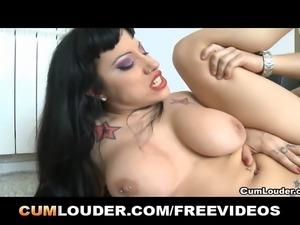 Gigi Love enjoys having your hot cum falling over her slut face to after...
