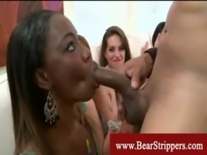 Cfnm voracious party lady giving bj free