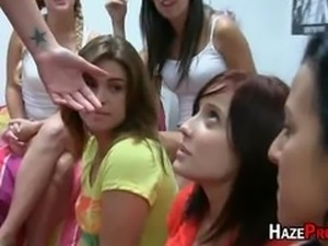 Sorority Pledges Licking Big Booty Babe