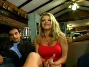 Vicky Vette takes on 3 guys