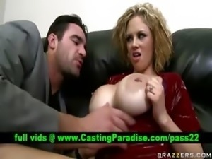 Katie Kox gorgeous busty babe at audition