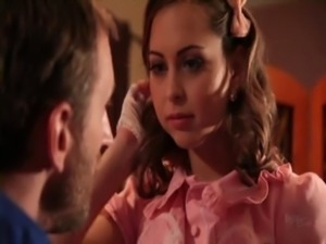 Riley Reid demonstrates her blowjob skills with Mark Ashley's big thick...