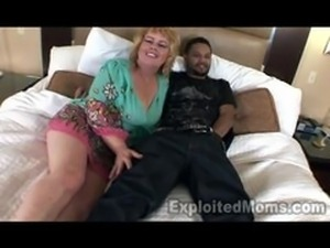 50yr old Granny 1stTimmer in Interracial Video
