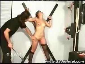 Slave Punished And Penetrated bdsm bondage slave femdom domination