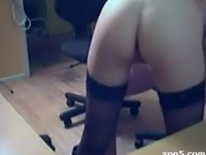 Young couple making home porn video